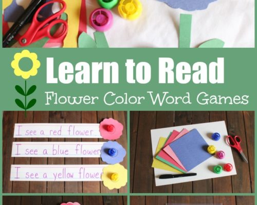 Flower Color Word Game