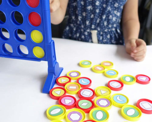 Shape Sorting & Patterning with Connect 4