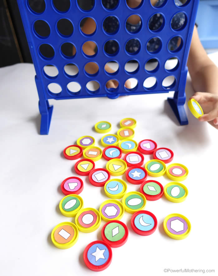 shape sorting and patterning ideas