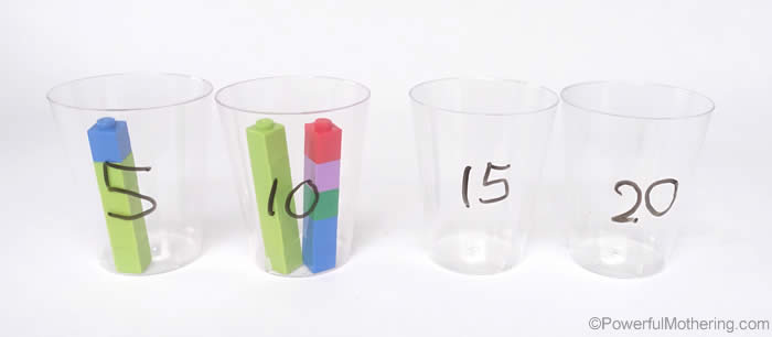 counting in multiples with lego