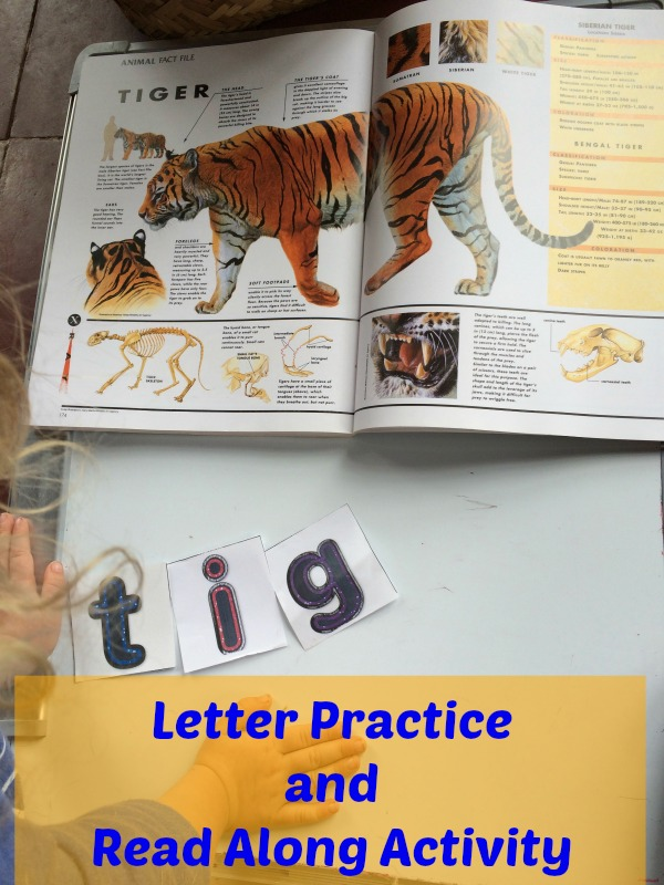 Letter Practice and Read Along Activity