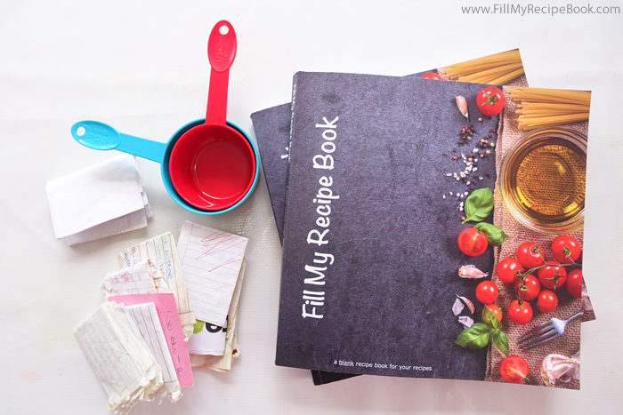 blank cook book recipe organization