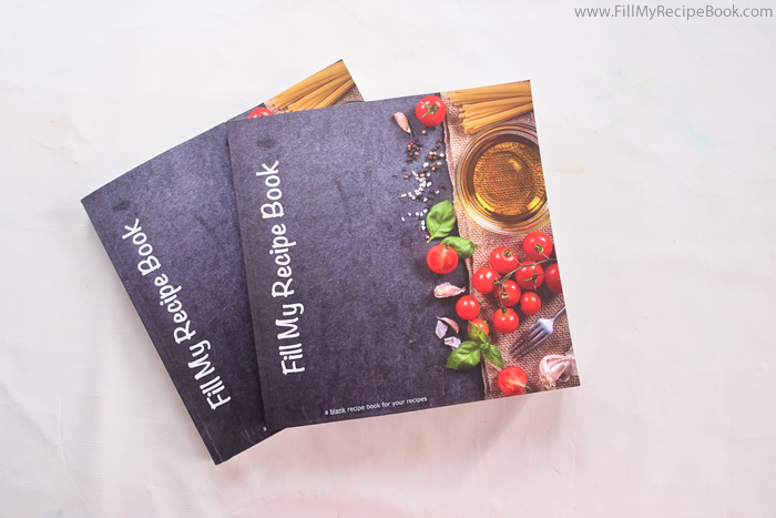 gorgeous blank recipe book for your scraps of paper