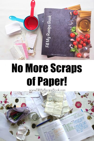 Gorgeous Blank Recipe Book for your Scraps of Paper!