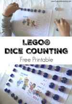 Simple LEGO Game with Dice & Counting for Kids