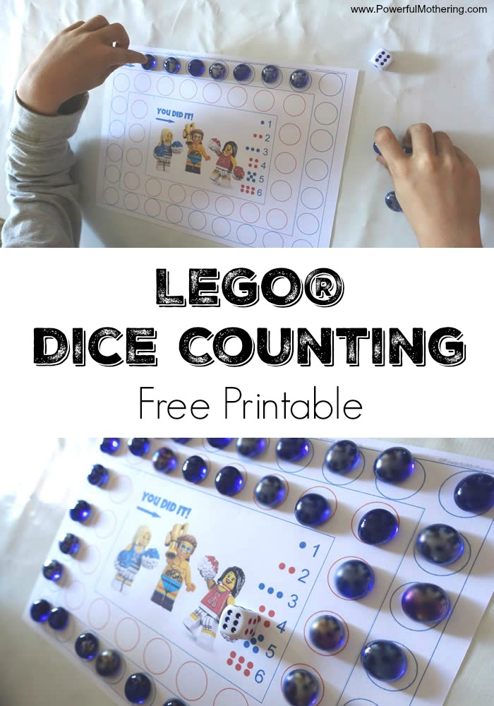 lego game dice and counting