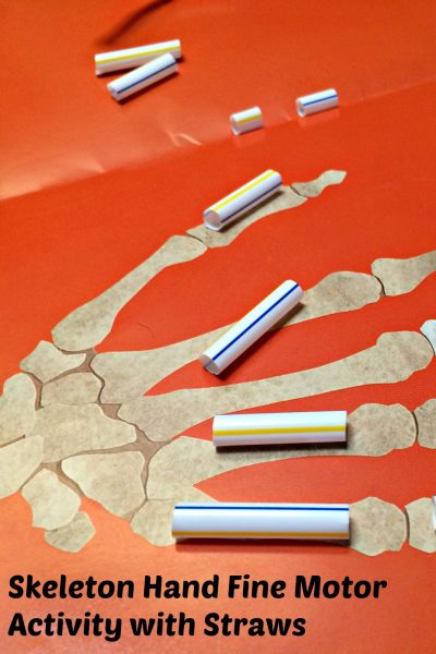 Skeleton Fine Motor Activity + Book Read Along