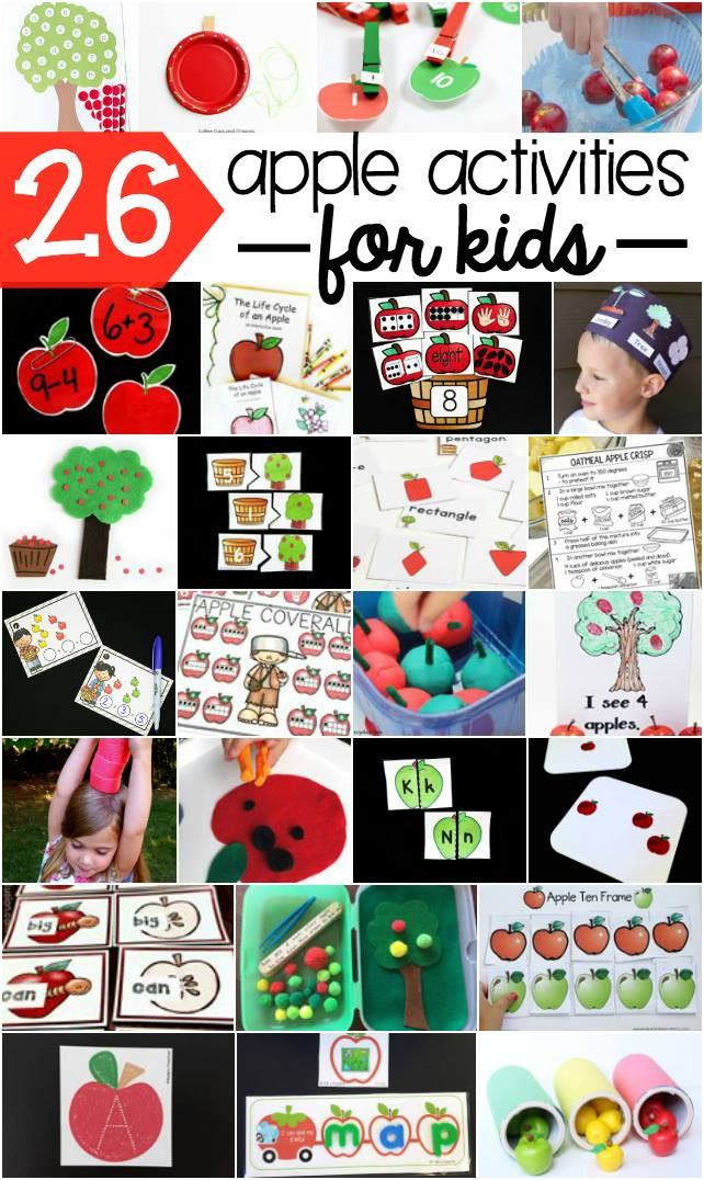 26 apple activities for toddlers and preschoolers