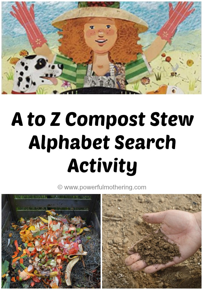 A to Z Compost Stew Alphabet Search Activity