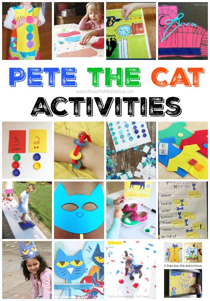 Does your kid love pete the cat? Mine does! Here are tons of pete the cat activities for you to do with the books in mind! Pete the cat activities are super fun!