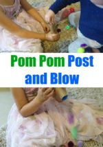 Pom Pom Post and Blow Activity