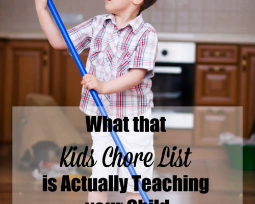 What that Kids Chore List is Actually Teaching your Child