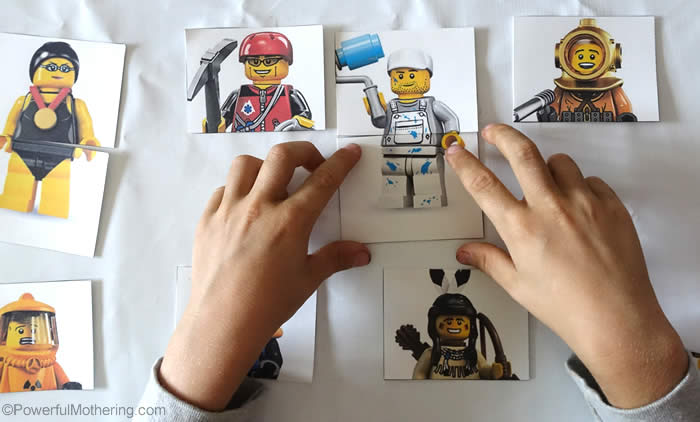 logical memory game from lego