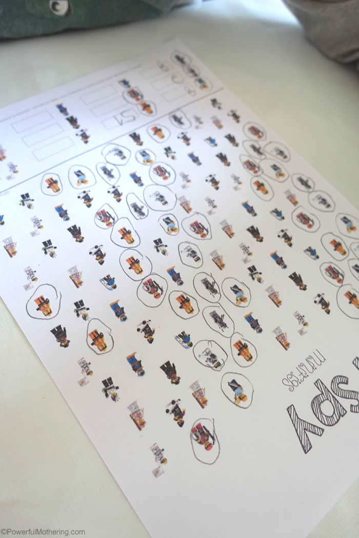 quick and easy lego game ispy printable