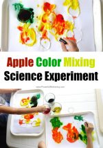Apple Color Mixing Science Experiment
