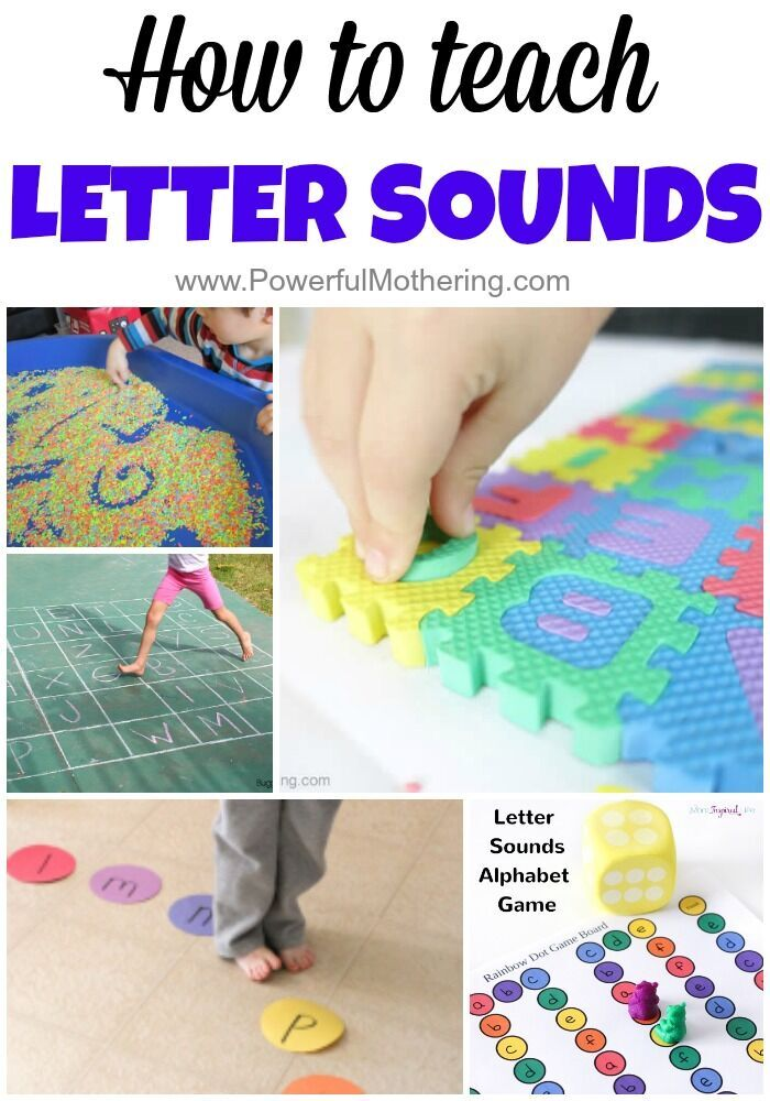 25 ways to teach letter sounds