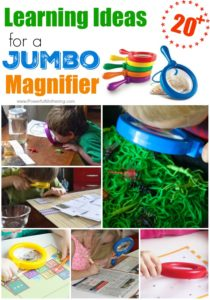 Learning Ideas for a Jumbo Magnifier