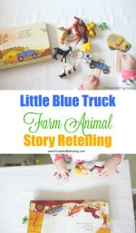 Little Blue Truck Farm Animal Story Retelling