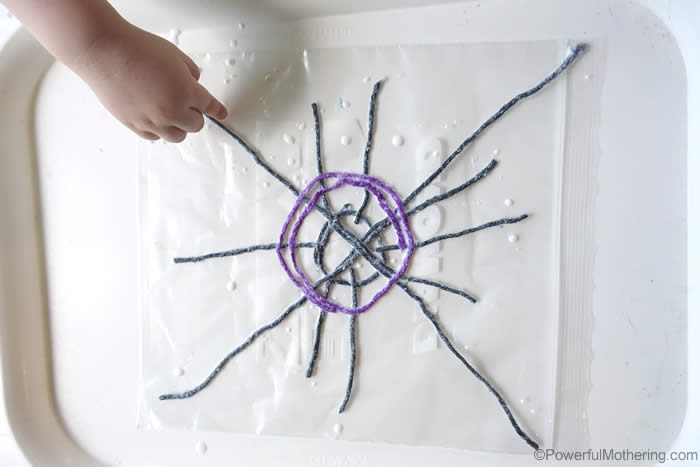 build a spider web scructure
