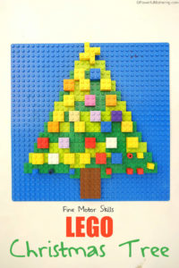 LEGO Christmas Tree Fine Motor Activity