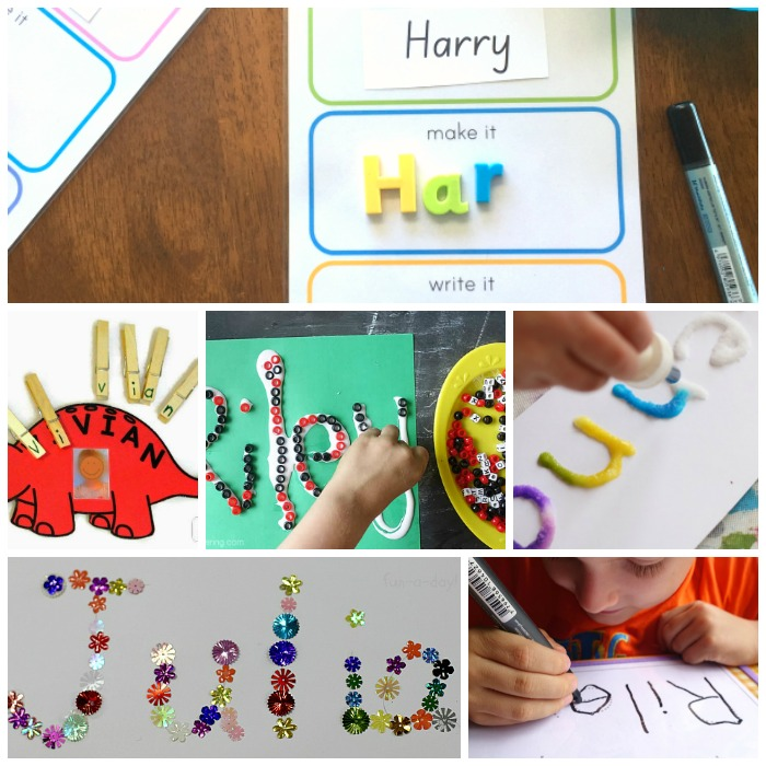 20 Write My Name Activities