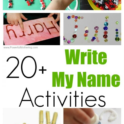 20 Write My Name Activities For Kids