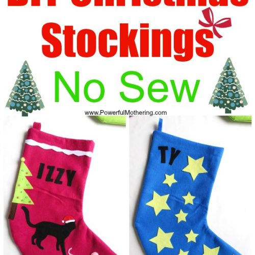 DIY Christmas Stockings No Sew great for personalization!