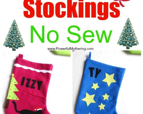 DIY Christmas Stockings – No Sew