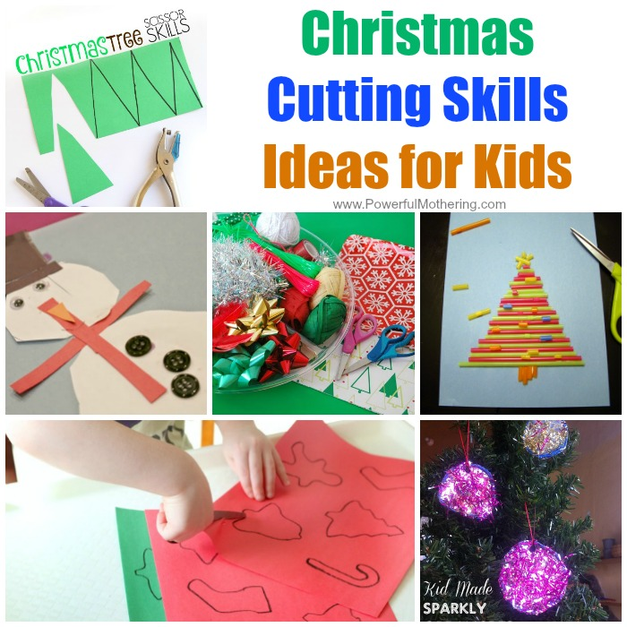 Christmas Cutting Skills Ideas for Kids