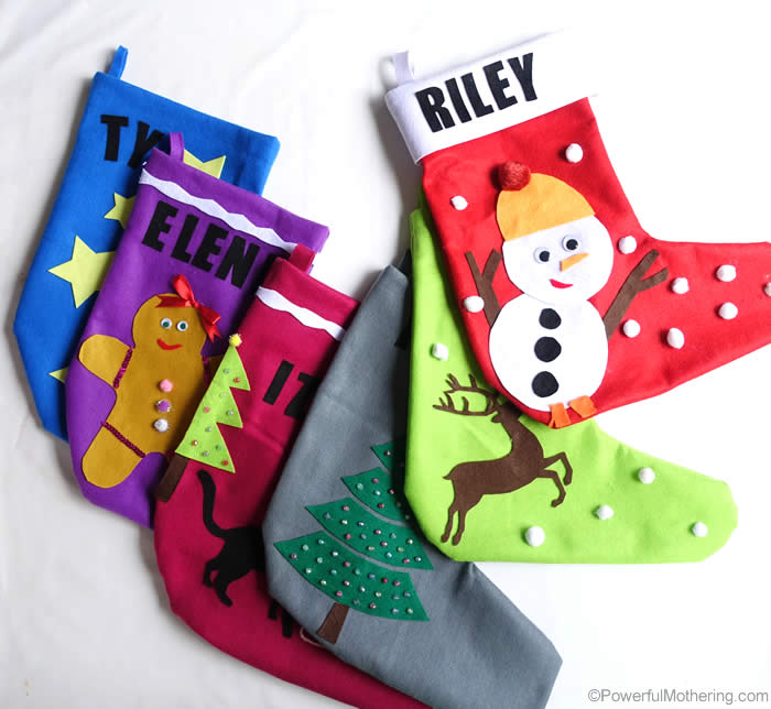 diy christmas stocking collection easy to make no sew - Decorating Christmas Stockings