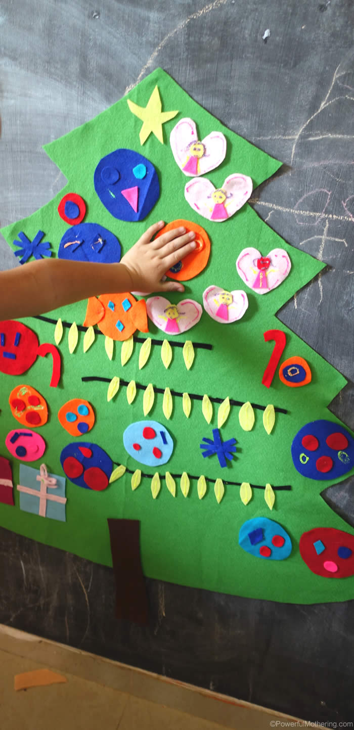Easy To Make Felt Christmas Tree Activity