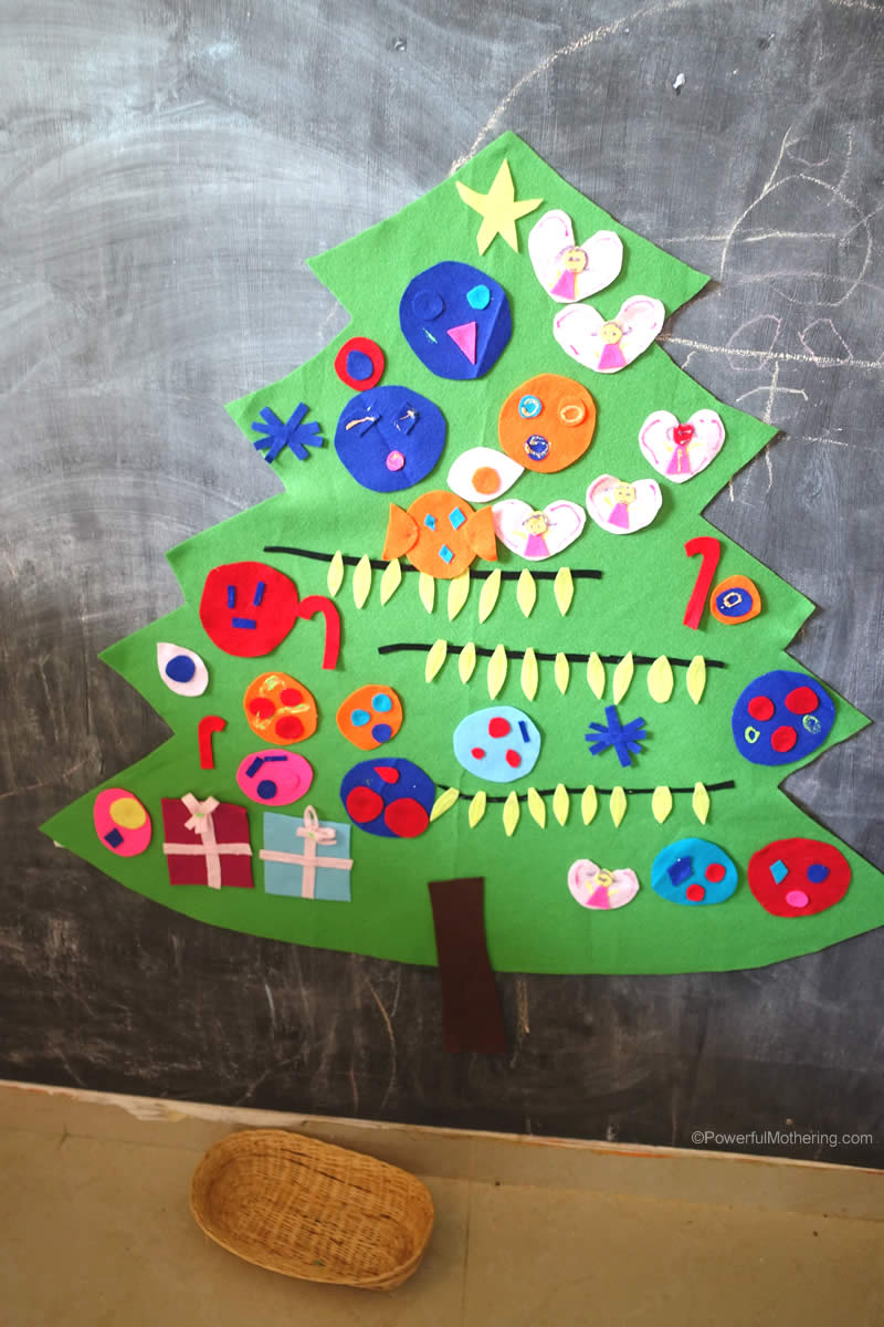 Felt Christmas Tree For Preschool