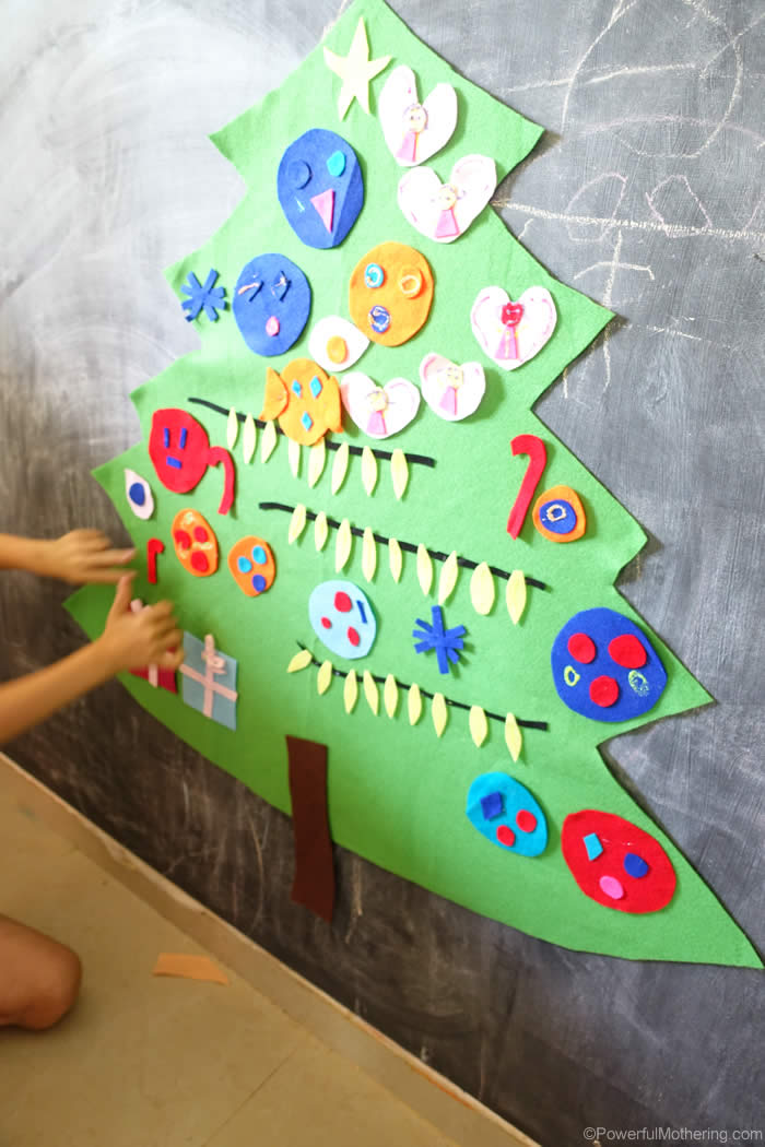 Make Felt Christmas Tree For Toddlers
