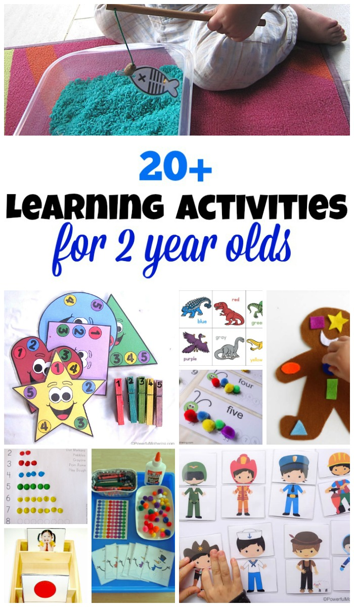 20 learning activities for 2 year olds - Learning Printables For 2 Year Olds