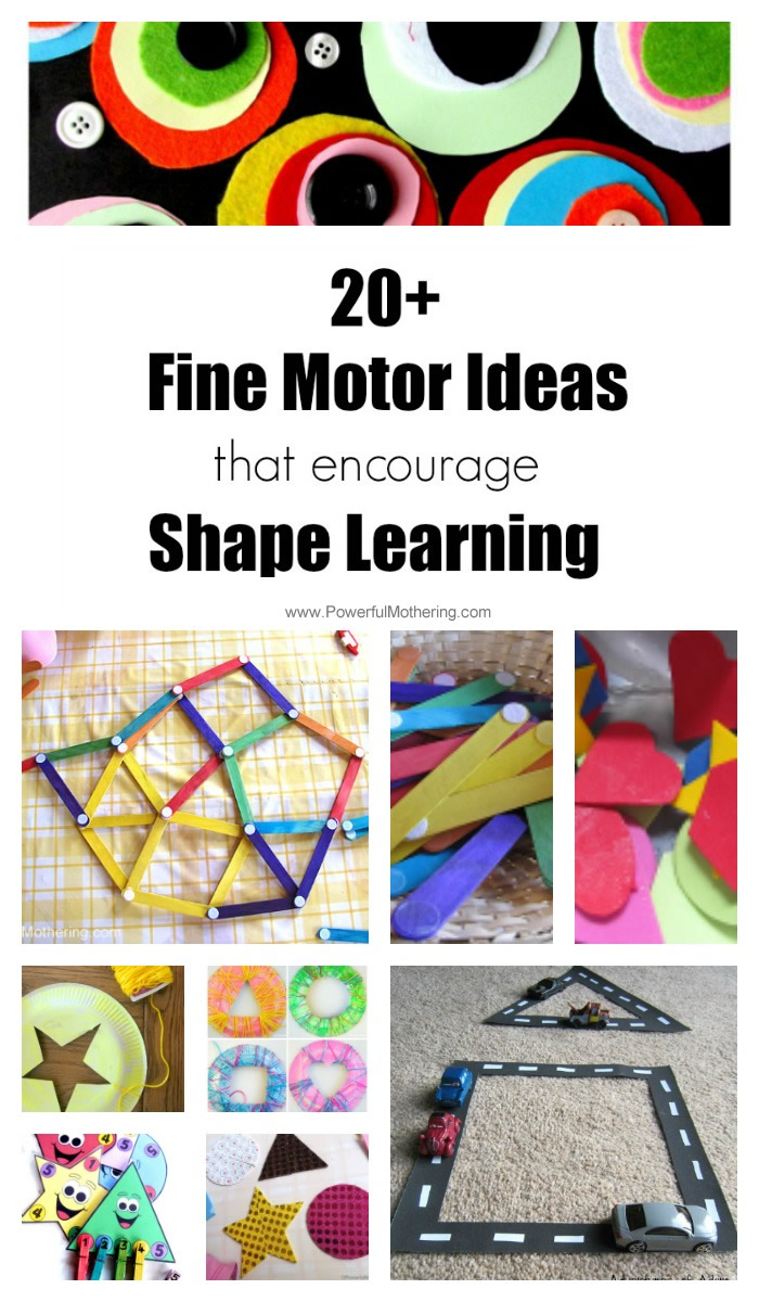 20+ Fine Motor Ideas that Encourage Shape Learning