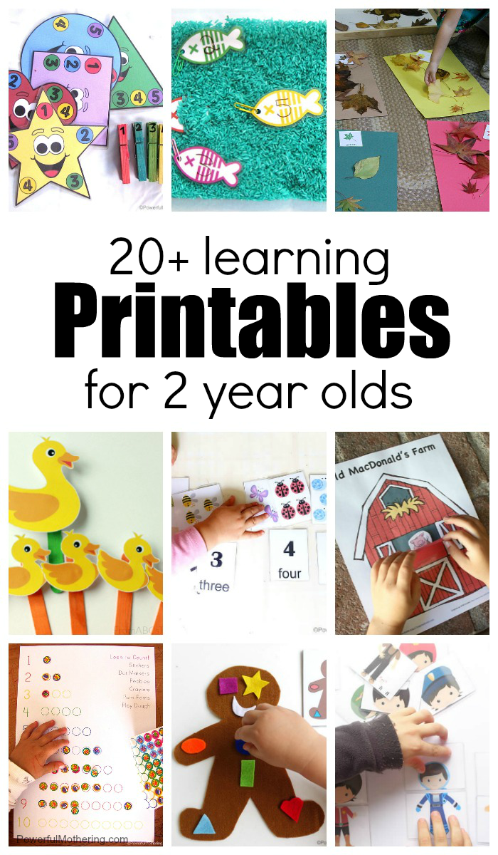 Learning Printables For 2 Year Olds