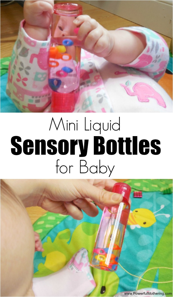 Mini Liquid Sensory Bottles for Baby