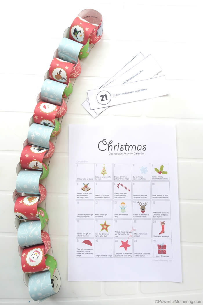 Christmas Activity Countdown Calendar