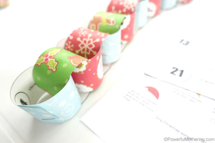 Easy Paper Chaint Christmas Activity Countdown