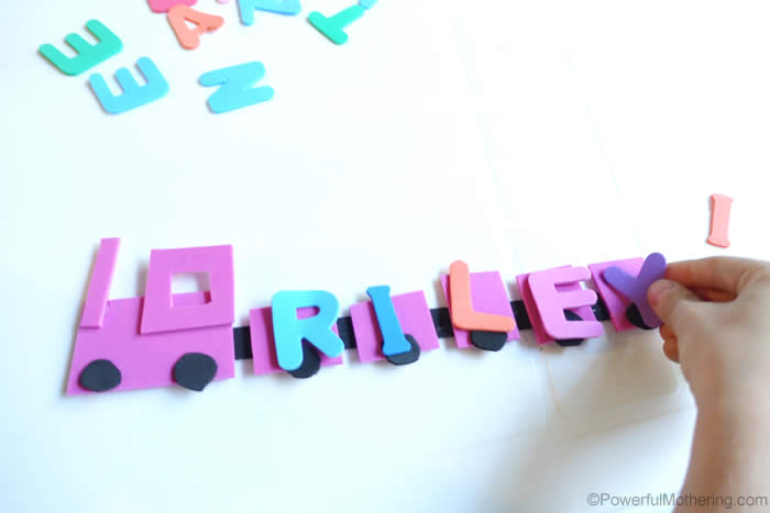 Fine Motor Idea For Name Recognition