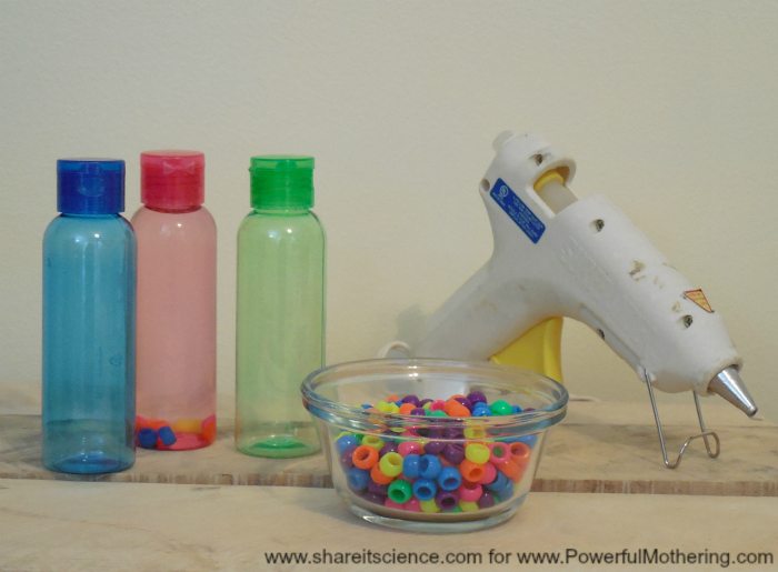 Supplies for baby sensory bottle