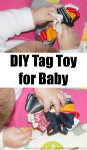 DIY Tag Toy for Baby