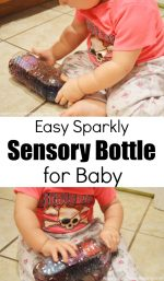Easy Sparkly Sensory Bottle for Baby