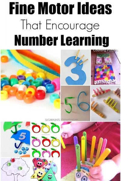 30+ Fine Motor Ideas that Encourage Number Learning