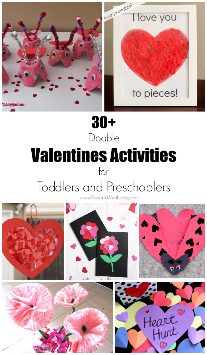 Over 30 Doable Valentine's Day Activities For Toddlers And Preschoolers