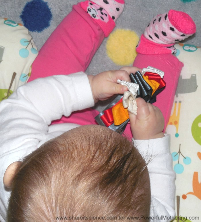 Easy Diy Tag Toy For Baby Sensory Exploring