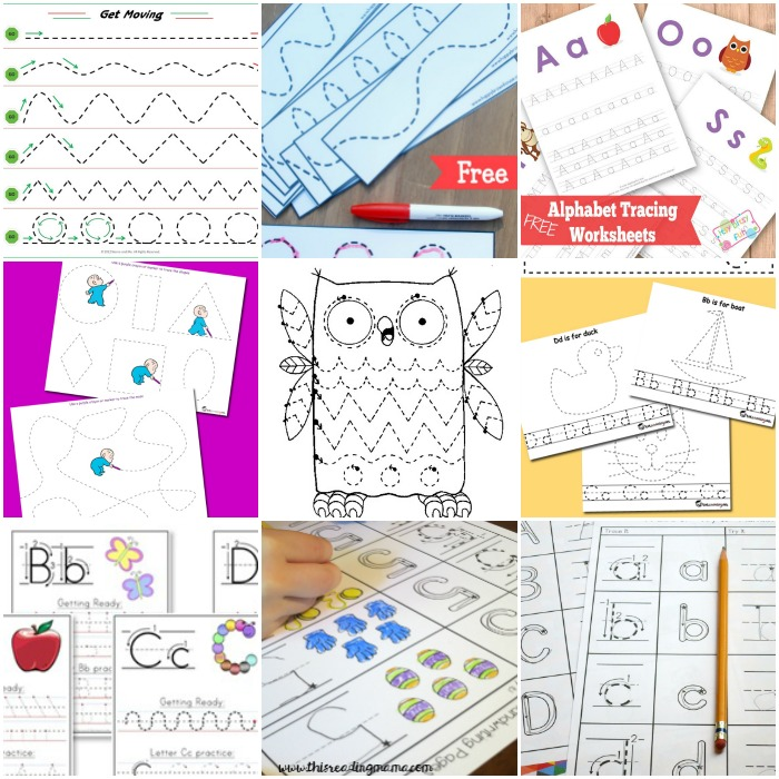 Free Preschool Tracing Worksheets