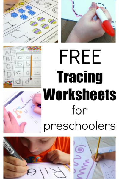Tracing Worksheets For Preschoolers