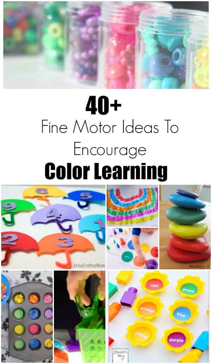 40+ Fine Motor Activities All About Colors