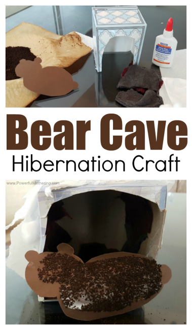Bear Cave Hibernation Craft For Preschoolers To Make This Winter